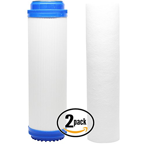 2er Pack Ersatz-Filter Kit für GE gx1s01r RO System–inklusive Polypropylen Sediment Filter & Granulat Aktivkohle Filter–Denali Pure Marke