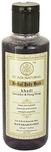 Gel Herbal Body Wash (Khadi Herbal Body Wash / Shower Gel Lavender & Ylang Ylang Relaxing Mind & Body (SLS & Paraben Free) 8 fl.oz. / 210ml *Ship from UK)