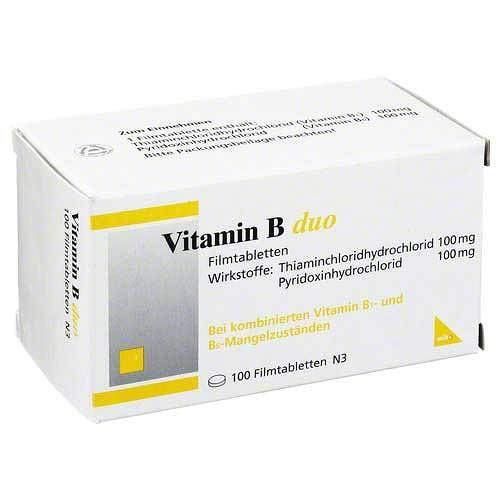 Vitamin B Duo Filmtablett 100 stk