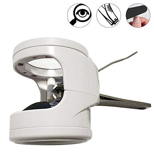 Lupe - Tragbare Lupe Nagelknipser mit LED-Leuchten, Taschenfingertrimmer für ältere Menschen und Kinder - Lupe Nagelknipser