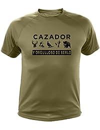 Camiseta de caza Cazador y orgulloso de serlo - Ideas regalos (30220, Verde,