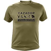 Camiseta de caza Cazador y orgulloso de serlo - Ideas regalos (30220, Verde, M)