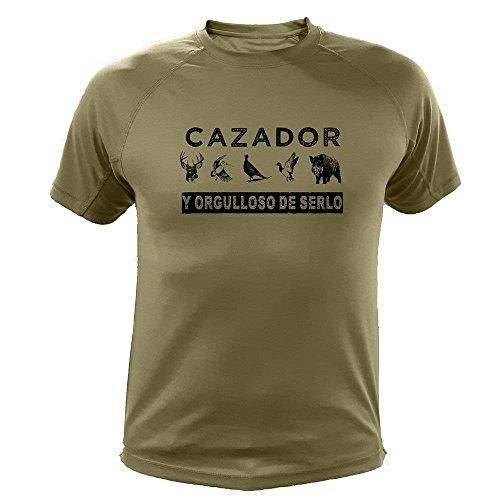 Camiseta de caza Cazador y orgulloso de serlo - Ideas regalos (30220, Verde, XXL)