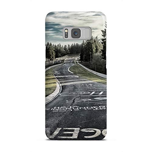 artboxONE Samsung Galaxy S8 Premium-Case Handyhülle Fahrbahn in Kreide von Olaf Pohling -