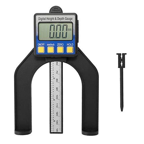Roeam Hochpräzise LCD Digitalanzeige Schieblehre Messschieber Höhen und Tiefenmesser mit Messbereich von 0-85mm Boden mit Magneten