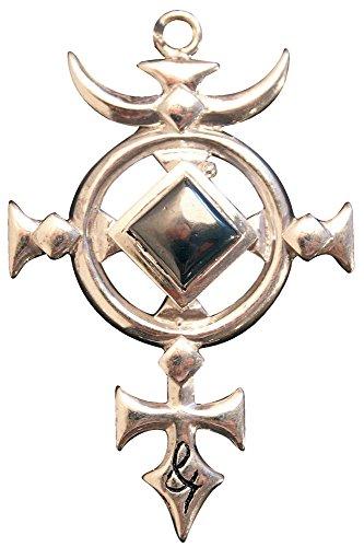 Kreuz des St. Michael - Anhänger Halskette Für Schutz - Briar Edelstein Anhänger Sammlungim - 925er Sterling Silber mit 18karätigem Gold und Hämatit (St Gold Michael-halskette)