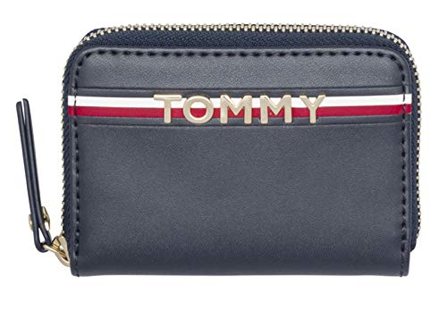 Tommy Hilfiger Corp Leather Mini Zip Around Wallet Tommy Navy