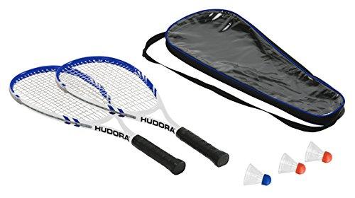 HUDORA Badmintonset Speed HD-55, 75014 (2 Schläger, 3 Federbälle, Schlägertasche)