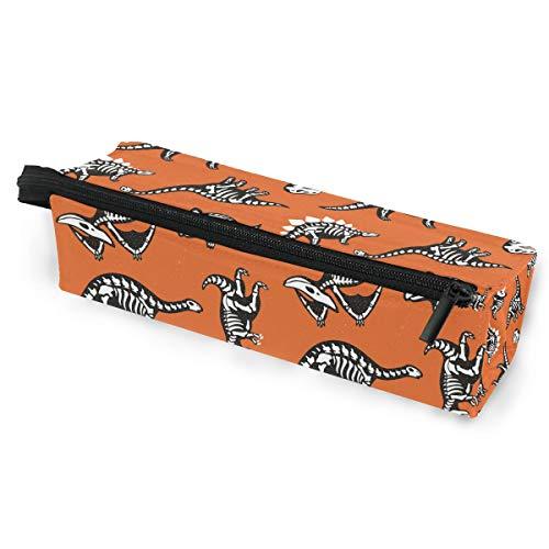 Ahomy Tragbare Brillenbox mit Reißverschluss, Dinosaurier-Skelett-Etui, Make-up-Tasche