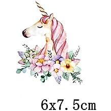 Pegatinas infantiles transfer parche termoadhesivo unicornio para pijamas, sudaderas, camisetas, canastillas.7.5