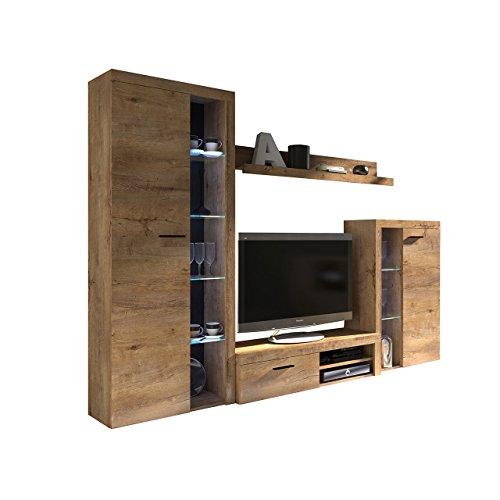 Wohnwand Rango, Design Wohnzimmer Set, Modernes ...