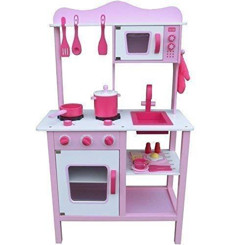 Amazon Play Kitchen | Eurotrade Wooden Toy Kitchen The Best Amazon Price In Savemoney Es