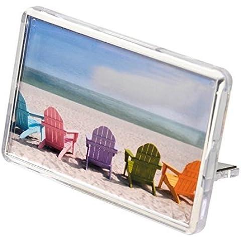 50 En Blanco Acrílico Imanes De Nevera De Plástico Transparente, 70mm x 45mm Inserción L4