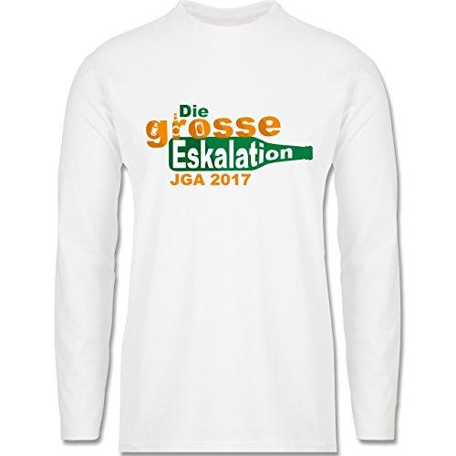 JGA Junggesellenabschied - Die große Eskalation - JGA 2017 - Longsleeve / langärmeliges  T-Shirt