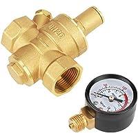 Regulador de presión - Válvula reductora de presión de agua ajustable DN20 con medidor de calibre Reductor regulador de presión de agua