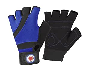 GetYourselfFitter Men's Core Fitness Weight Lifting Gloves - Blue, Large