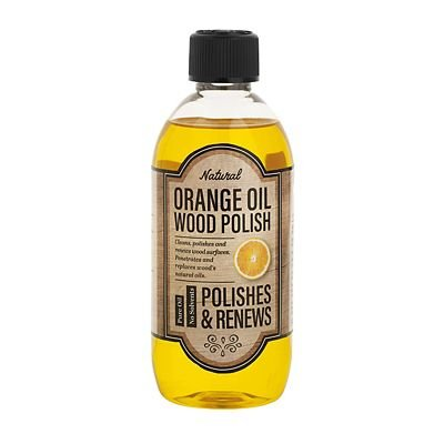 Lakeland Orange Oil Wood Polish, 500ml - Revives & Renews Wooden Furniture