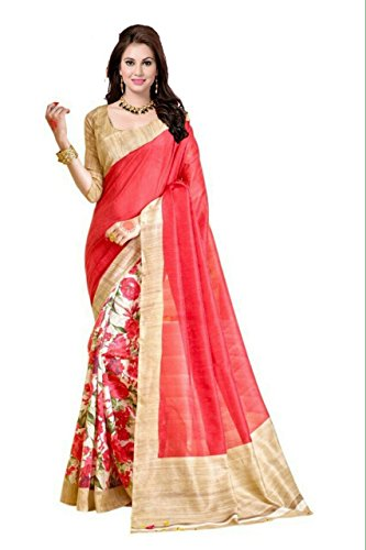 Sarees (Women's Clothing Saree Today best offers buy online in Low Price Sale Designer Multi Color Art Silk Fabric Free Size Ladies Sari With Blouse Piece)  available at amazon for Rs.275