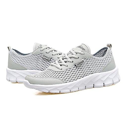 Hommes Été Chaussures de sport Grande taille Mode Respirant Chaussures de course Chaussures de loisirs White