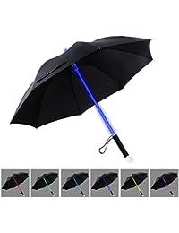 YIER Star Wars LED paraguas sable de luz paraguas claros y negros con 7 colores.