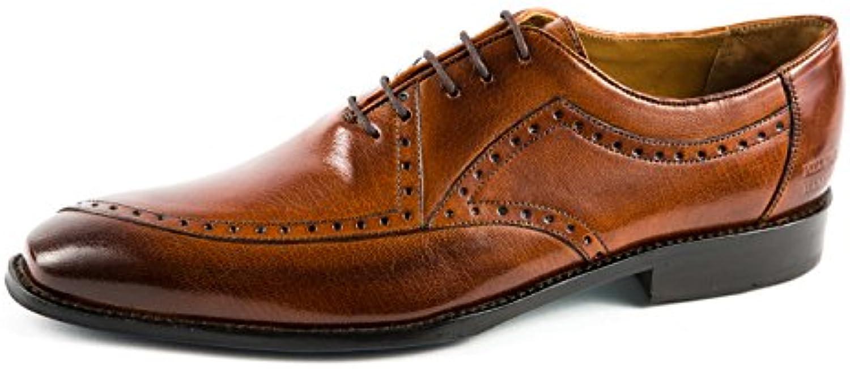 Melvin & Hamilton MH15-330 - Zapatos de Cordones de Piel Lisa para Hombre Marrón Marrón 41 EU -