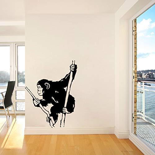 jiushixw AFFE Auf AST Wand Vinyl Aufkleber Lustige Tiere Wandaufkleber Home Interior Schlafzimmer Dekor Wanddekor Für Kinderzimmer Baby 84x110 cm