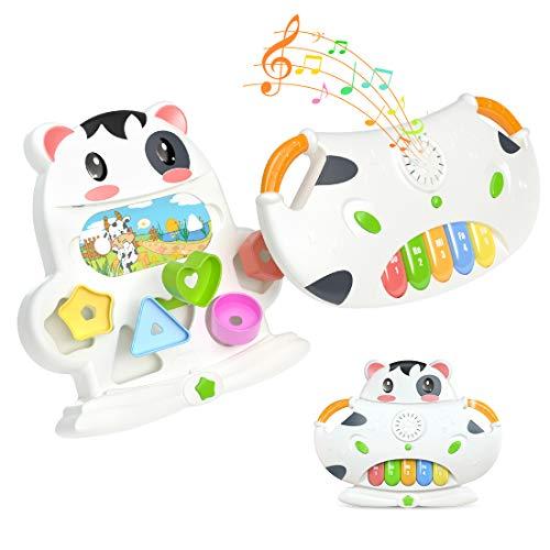 Kinder Musikinstrumente Piano Spielzeug Form Sorter Spielzeug, Baby Early Lernspielzeug mit Licht & Sounds, Geschenk für Jungen Mädchen Kinder oder Kleinkinder im Alter von 1 2 3