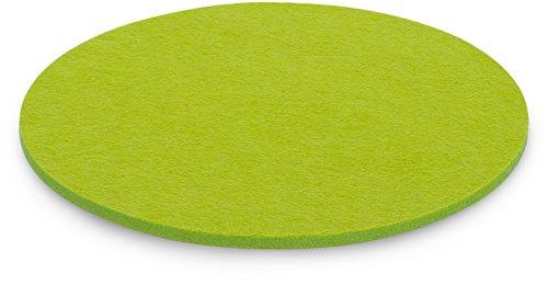 FILU Platzsets aus Filz 4er-Pack Hellgrün rund (Farbe und Form wählbar) 35 cm Durchmesser –...