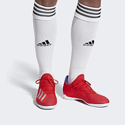adidas Herren X 18.3 In Fußballschuhe, Mehrfarbig (Rojact/Plamet/Azufue 000), 45 1/3 EU