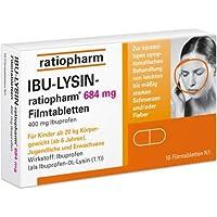 IBU-LYSIN-ratiopharm 684 mg, Spar-Set 3x50 Filmtabletten. Gegen leichte bis mittlere Schmerzen wie z.B Kopfschmerzen... preisvergleich bei billige-tabletten.eu