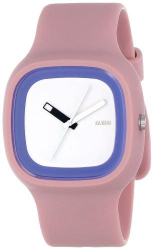 Alessi - AL10023 - Montre Mixte - Automatique - Analogique - Bracelet Plastique Rose