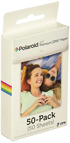 Polaroid 2x3 inch Premium Zink Photo Paper (Pack of 50)