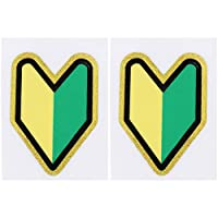 CLISPEED Car Sticker Reflective Scratch Cover Stickers Car Decor Novice Logo Decal Car Sticker for New Student Driver Novice 2pcs Style 2
