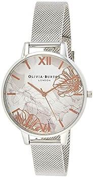 Olivia Burton Womens Quartz Wrist Watch, Analog and Stainless Steel- OB16VM20