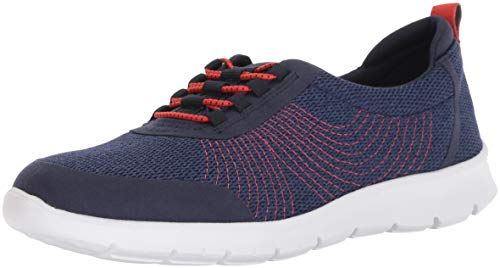 Clarks Damen Step AllenaBay Turnschuh Navy Mesh 6.5 M EU Lace-up-bay