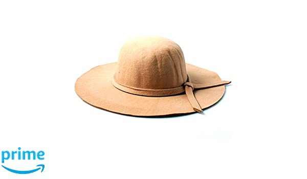 Accessoryo Women s Camel Floppy Fedora Hat with Knotted Band Detail   Amazon.co.uk  Clothing 7a52258f79d1