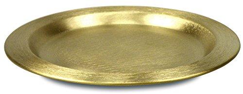 °° Kerzenuntersetzer aus Messing, ca. 11cm (goldfarben) -