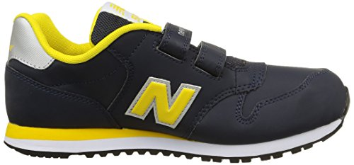 New Balance NBKV500BAP Sneaker, Bambino Grey/Yellow