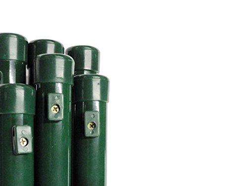 *Pfosten Stahlrohrpfosten Steher Rohrpfosten Rohre Zaunpfosten zum Maschendrahtzaun Ø 38 mm / Länge 200 cm – für Zaunhöhe 150 cm, Paket á 6 Stk.*