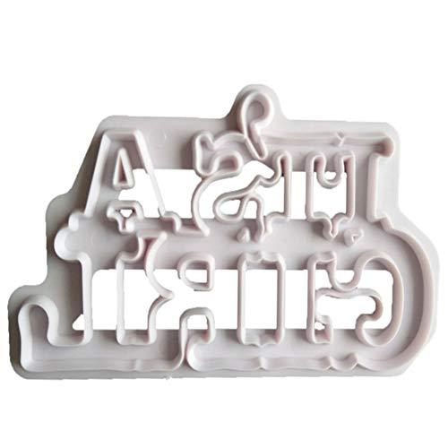 Danigrefinb IT 'S A Boy/Girl Keks-Ausstecher Baby Dusche Decor DIY Fondant Kuchen Form 1# (Silikon Mold Baby Boy)