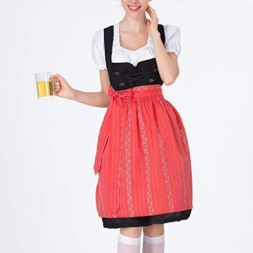 Frauen Bier Festival Kleid Bayerisches Bier Festival Cosplay Kostüme Red Plaid Kostüm Halloween Kostüm Dienstmädchen von Btruely (Disney Kostüm Tier Männer Für)