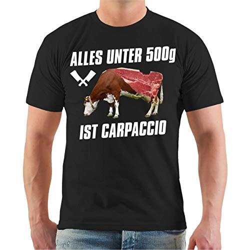 shirt Fun Sprüche Alles unter 500g ist Carpaccio Größe S - 8XL ()