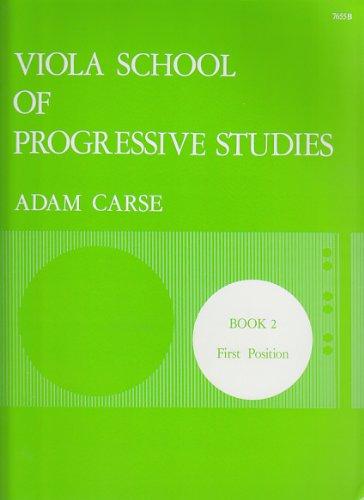 STAINER AND BELL CARSE ADAM - VIOLA SCHOOL OF PROGRESSIVE STUDIES VOL.2 Méthode et pédagogie Cordes Alto