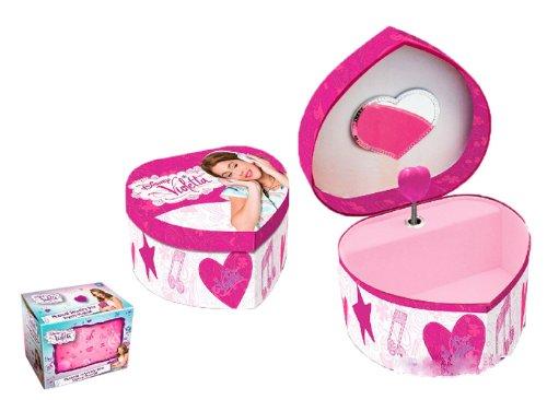 Disney 884050-Violetta-Box a Schmuck-Musikalische Herz MDF - Schmuck-box Musikalische