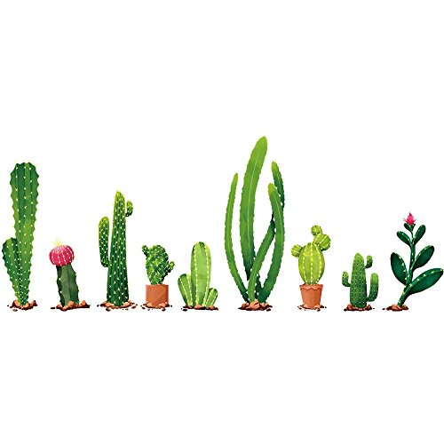Somesun diy cactus smontabile adesivo casa famiglia sticker murale art home decor wall art aereo portafoto carta da parati adesiva