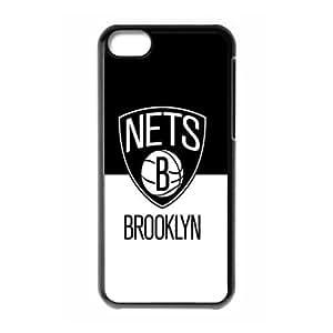 The logo of NBA for Apple iPhone 5C Black Case Hardcore-9