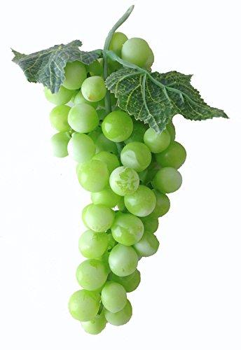 Deko Weintrauben 19 cm Rispe Wein Trauben Kunstobst Kunstgemüse künstliches Obst Gemüse Dekoration (Obst-dekoration)