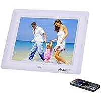 Andoer 8'' pollici HD TFT-LCD (600 * 800) Cornici Digitale / Photo Frame Sveglia Lettore MP3 MP4 di Film Digitale Movie Player con Desktop Remoto(Bianco)