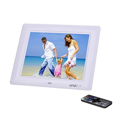 Andoer® 8'' HD TFT LCD Digitalen Bilderrahmen Fotorahmen Wecker MP3 MP4 Video Player mit Entfernten Desktop