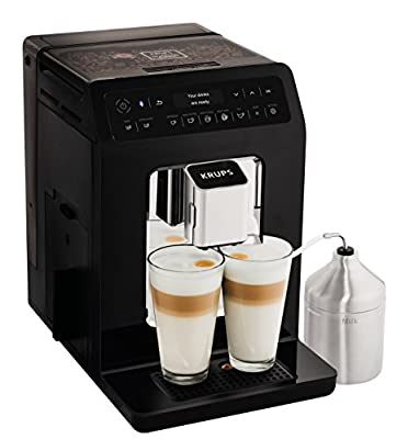 Krups Evidence Coffee Machine, Bean to Cup Machine, Black, Automatic, Hot Beverages, One Touch Coffee